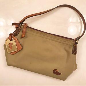Dooney & Burke Green Mini Nylon Shoulder Bag